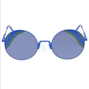 Fendi blue round cut sunglasses